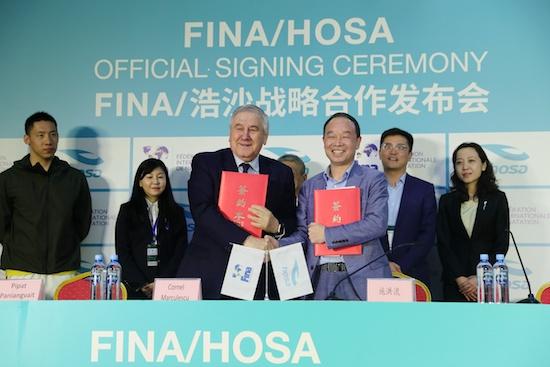 中国育品牌携手国际泳联 助力中国跳水发展